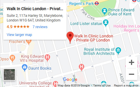 Walk In Clinic London Google Map